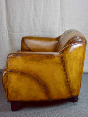 Prime Vintage Small Leather Sofa Two Seater Chez Pluie Ibusinesslaw Wood Chair Design Ideas Ibusinesslaworg