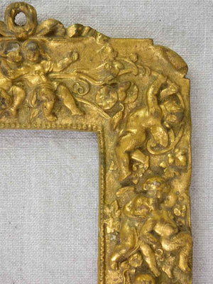 Antique French photo frame - gold with cherubs