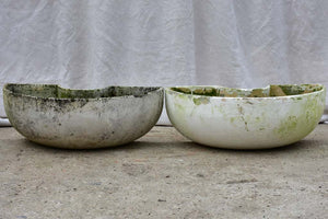 Pair of semi-circle Willy Guhl garden planters