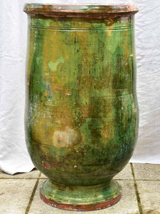 19th Century Anduze olive jar with green glaze - large 35¾""