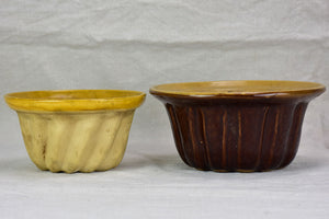 Two early 20th century French terracotta Gugelhupf bundt molds