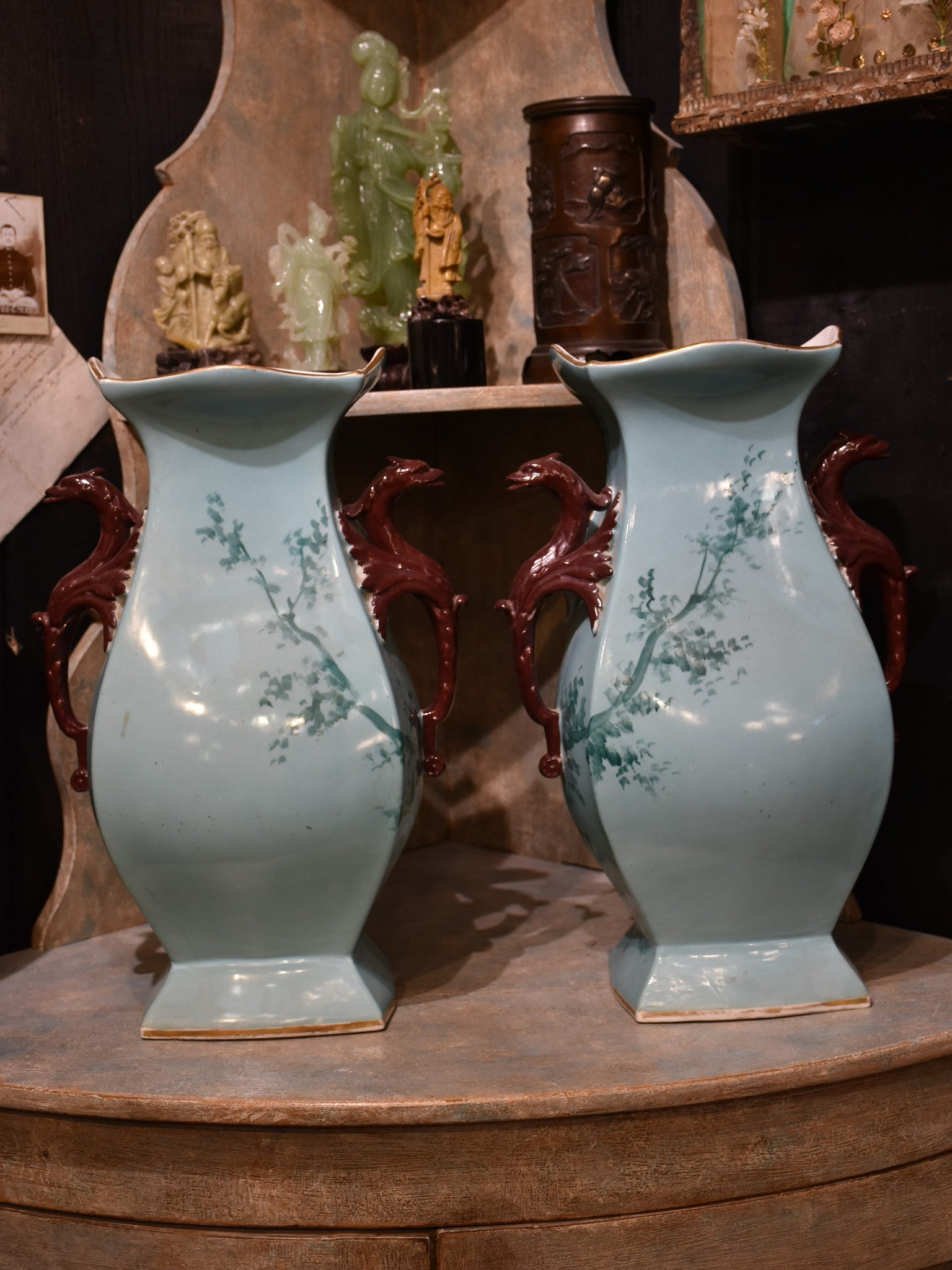 Pair of Vieux Paris porcelain vases – circa 1880's
