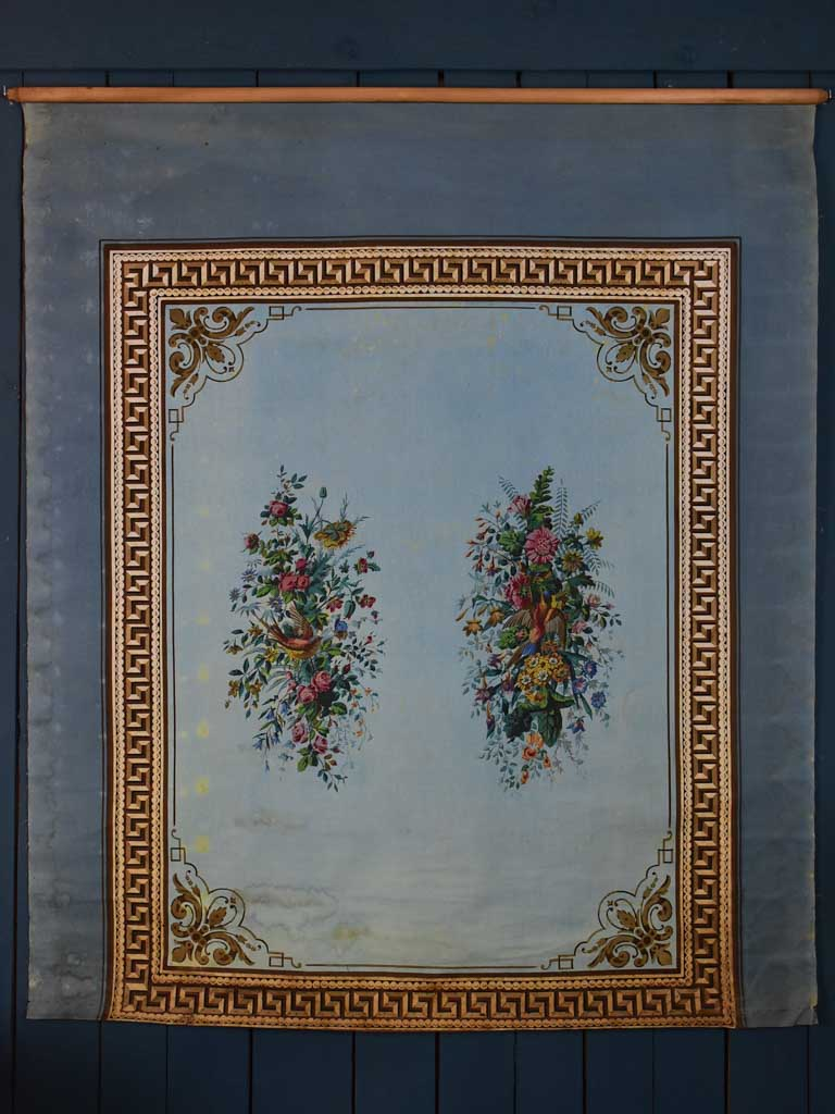 Napoleon III painted panel / blind