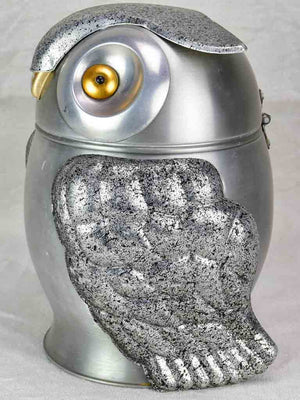 1970's Italian ice bucket in the shape of an owl