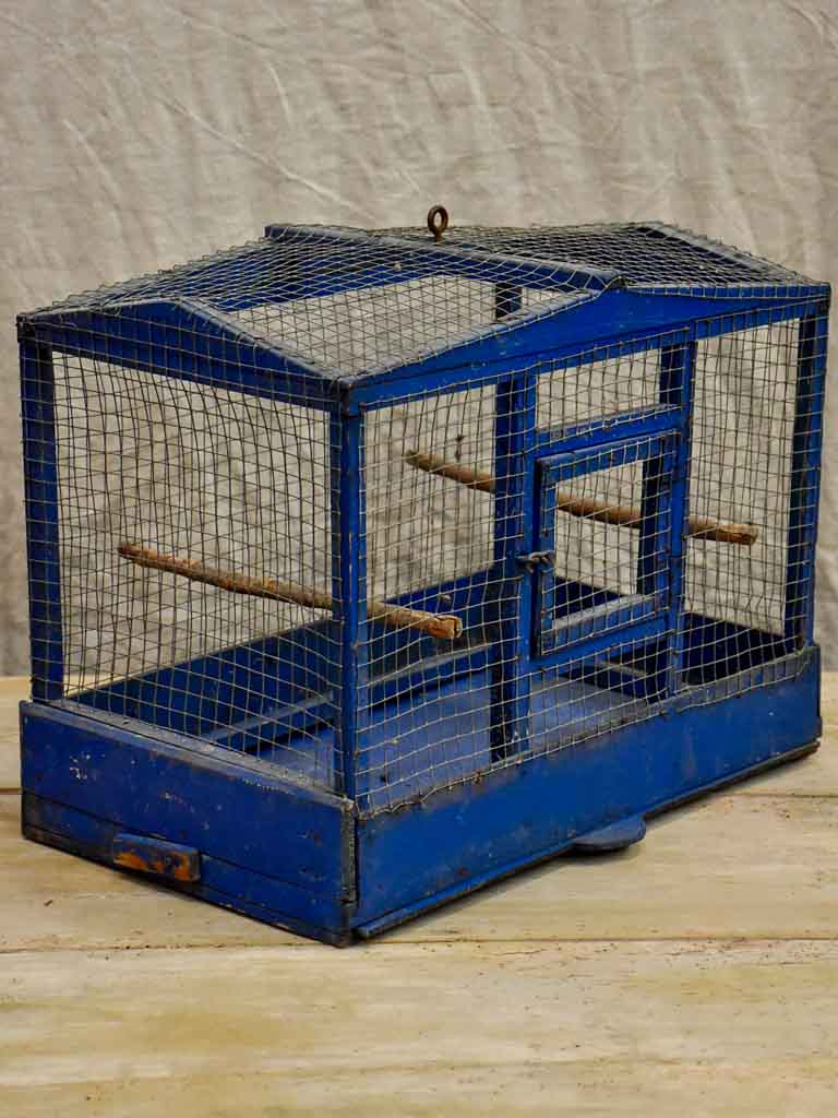Blue French birdcage from the 1930's