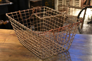Vintage French oyster basket - set of two
