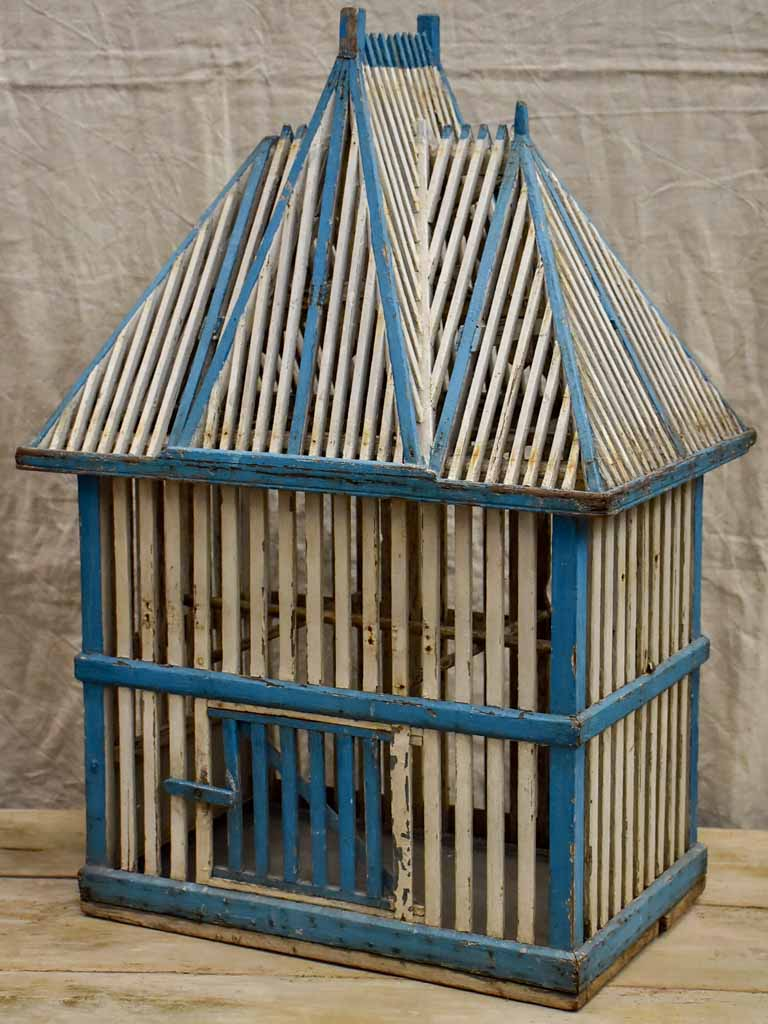 Large architectural antique French birdcage