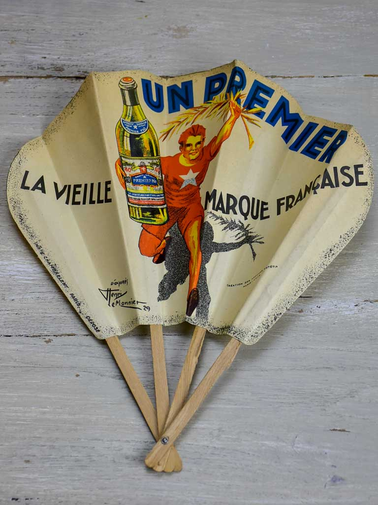 French paper fan from the 1950's - Un premier