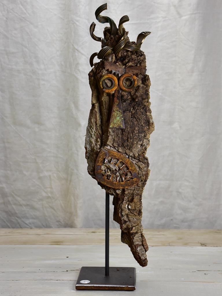 Artisan made sculpture made from salvaged materials