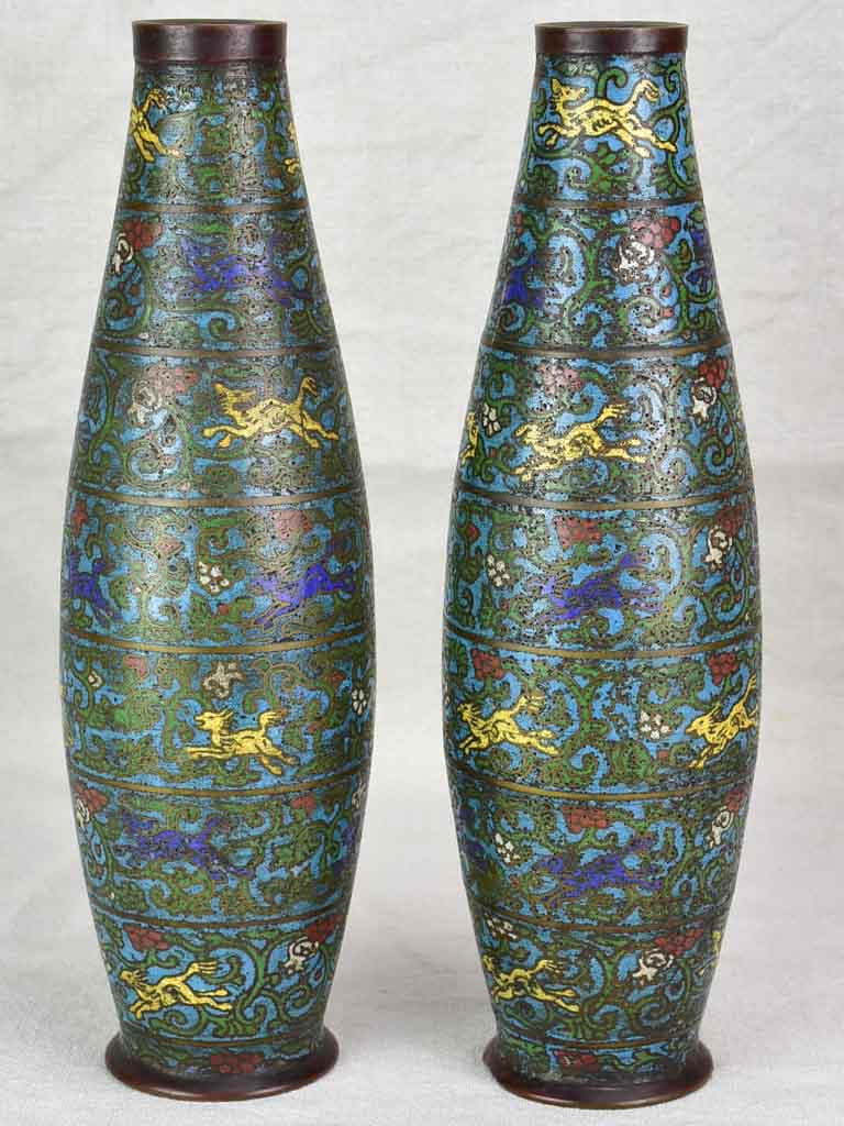 Rare pair of 19th century Japanese vases 14¼""
