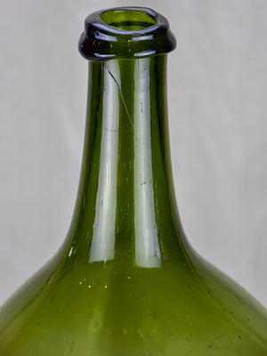 Antique French olive oil glass bottle