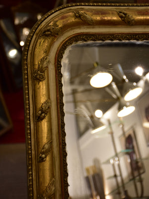 19th century Louis Philippe mirror with foliage decoration