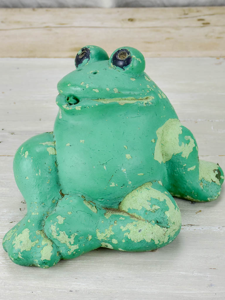 Mid century fountain in the shape of a frog