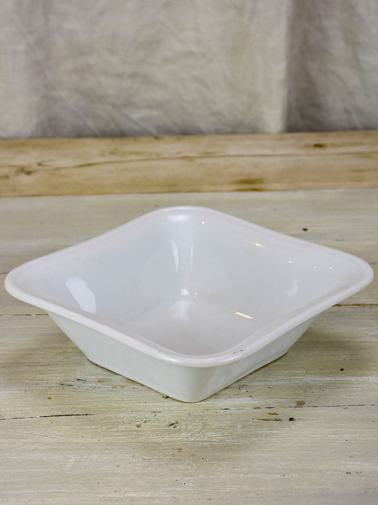 Antique white porcelain square bowl