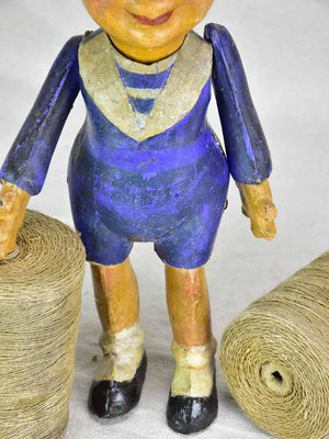 Antique French paper mache boy