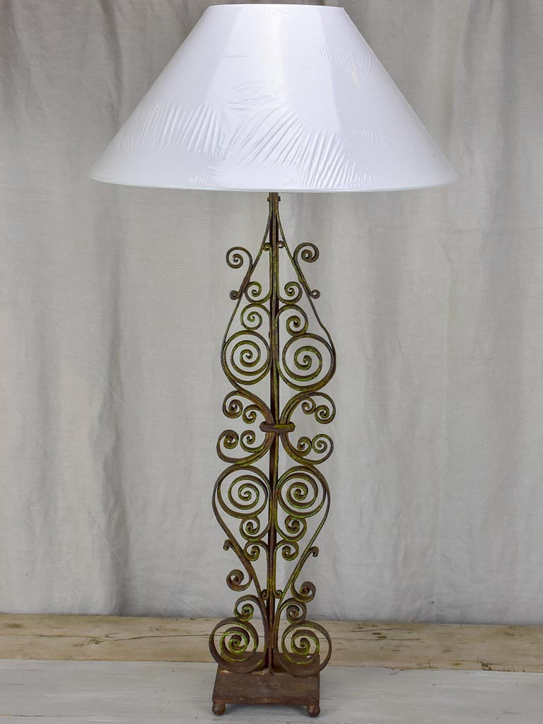 Tall antique French table lamp