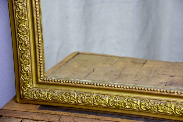 Antique French Louis Philippe mirror with gold frame