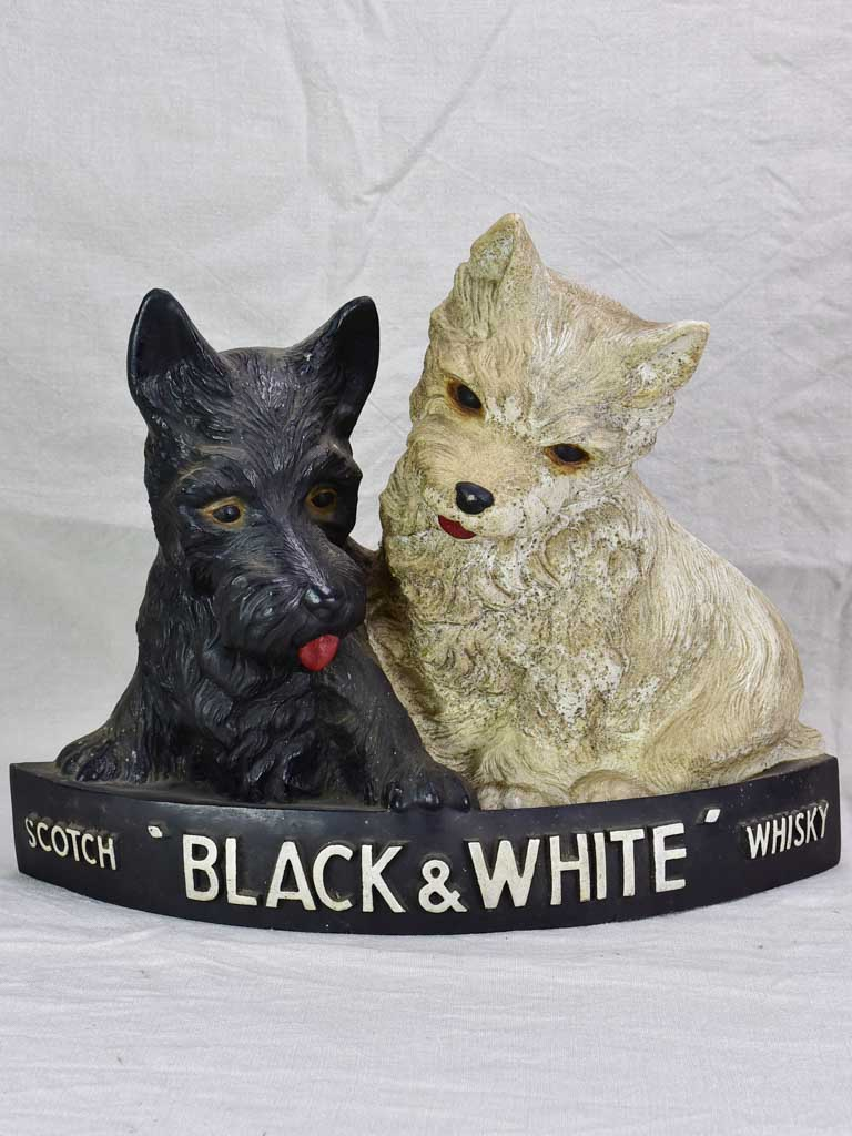 Black and White whisky advertising sculpture (Westie and Scottie dogs)