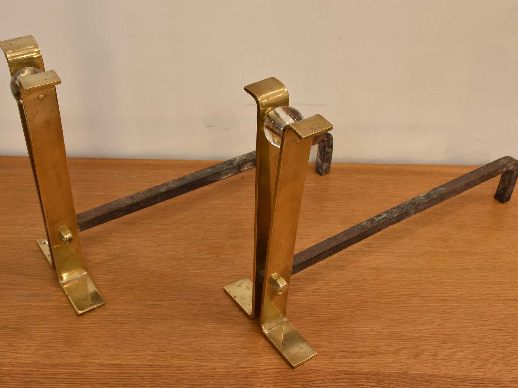 Pair of mid-century andirons