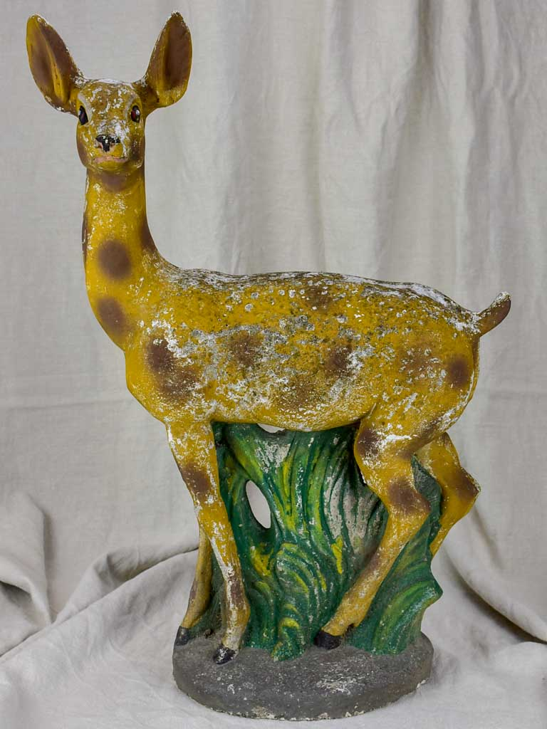 Mid century Italian garden sculpture of a deer