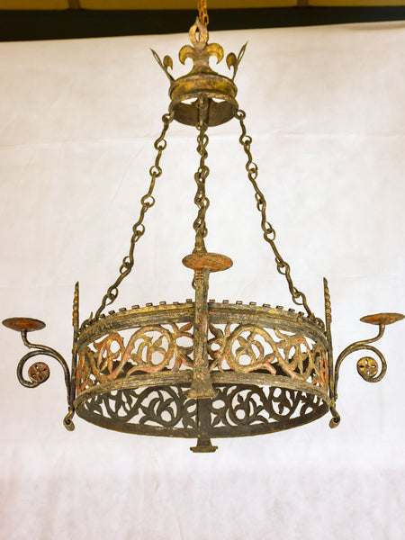 17th century French Louis XIII chandelier for candles