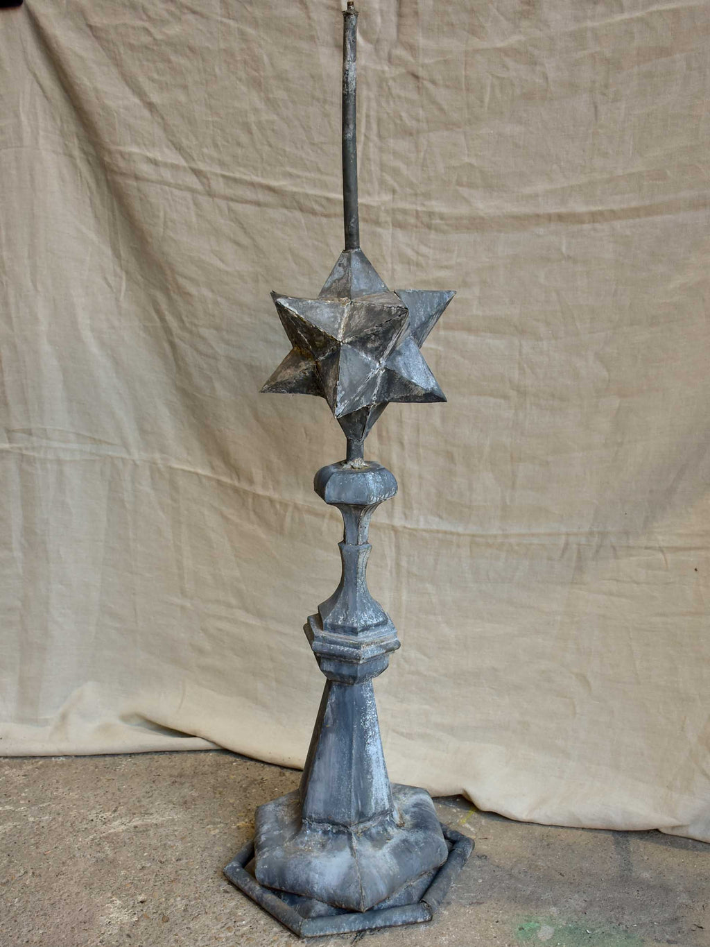 Very large antique French lightning rod