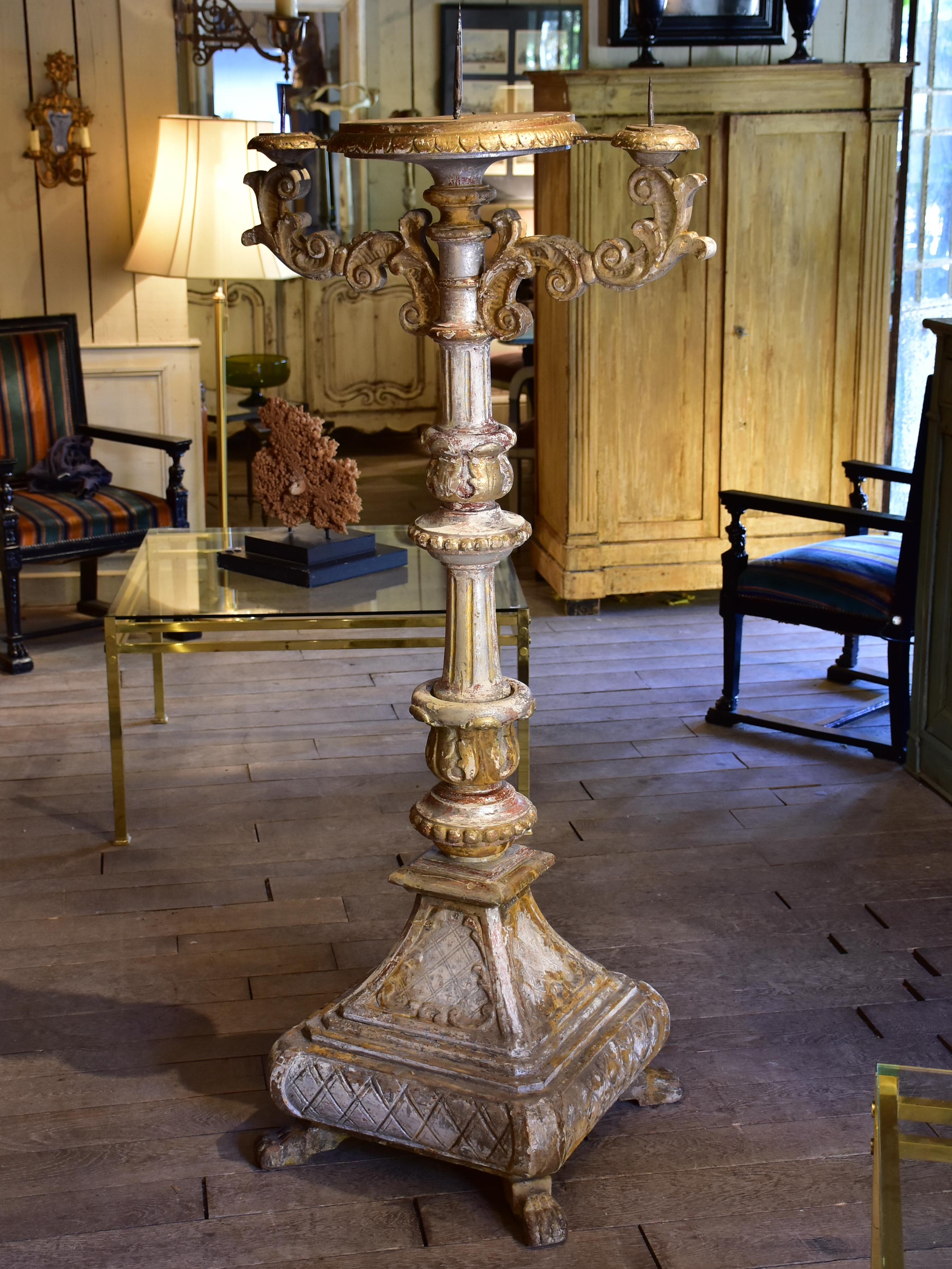 Very large renaissance church candlestick – 17th century