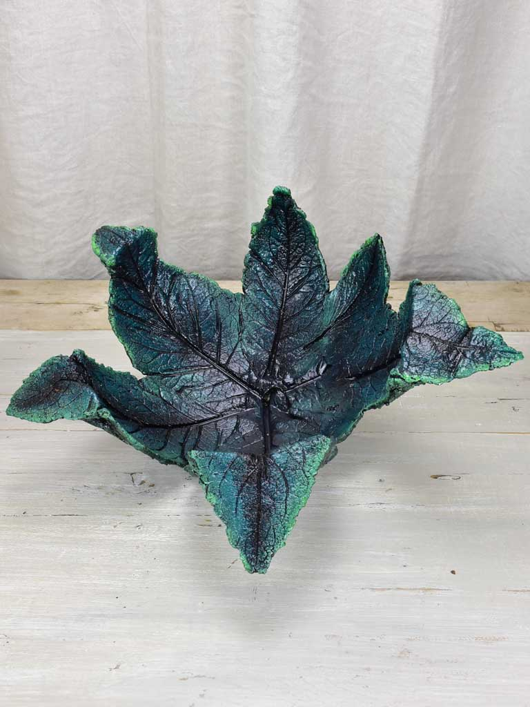 Artisan made leaf sculpture / bowl