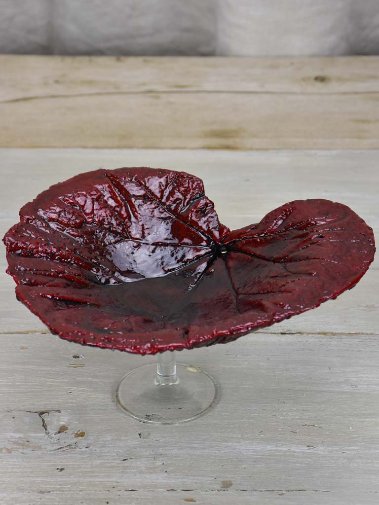 Artisan made leaf bowl