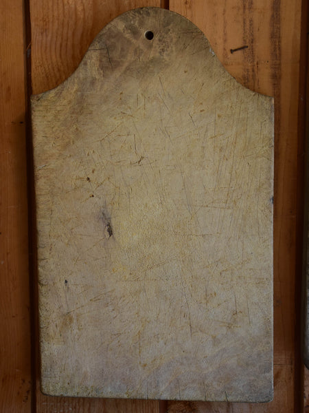 Antique French cutting board chapeau gendarme top