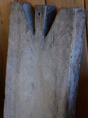 Antique French cutting board with weathered grey timber