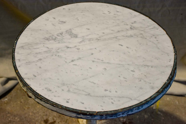 Napoleon III bistro table with polished marble top