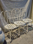Three antique French garden chairs