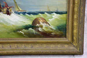 "19th Century oil on canvas - yachts 23¼"" x 19¼"""