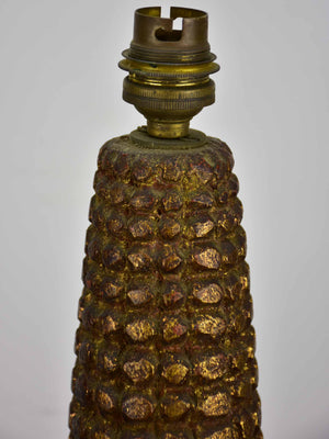 Large sweet corn lamp base - 1960's