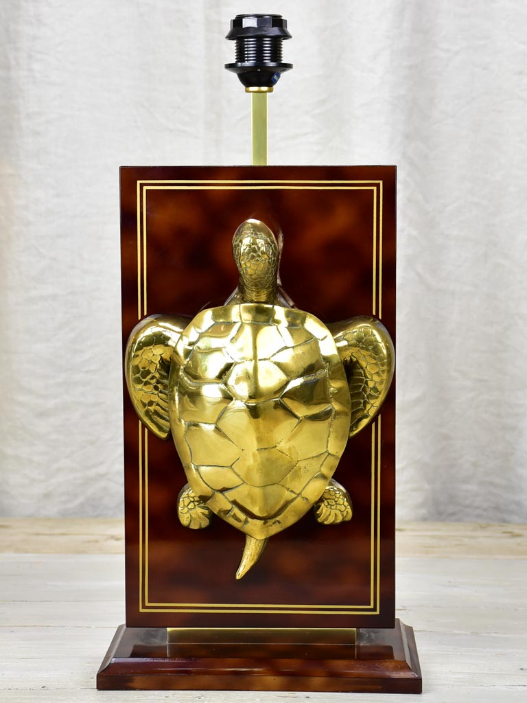 Vintage Le Dauphin turtle lamp base