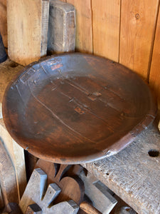 Large antique rustic bowl 1/2