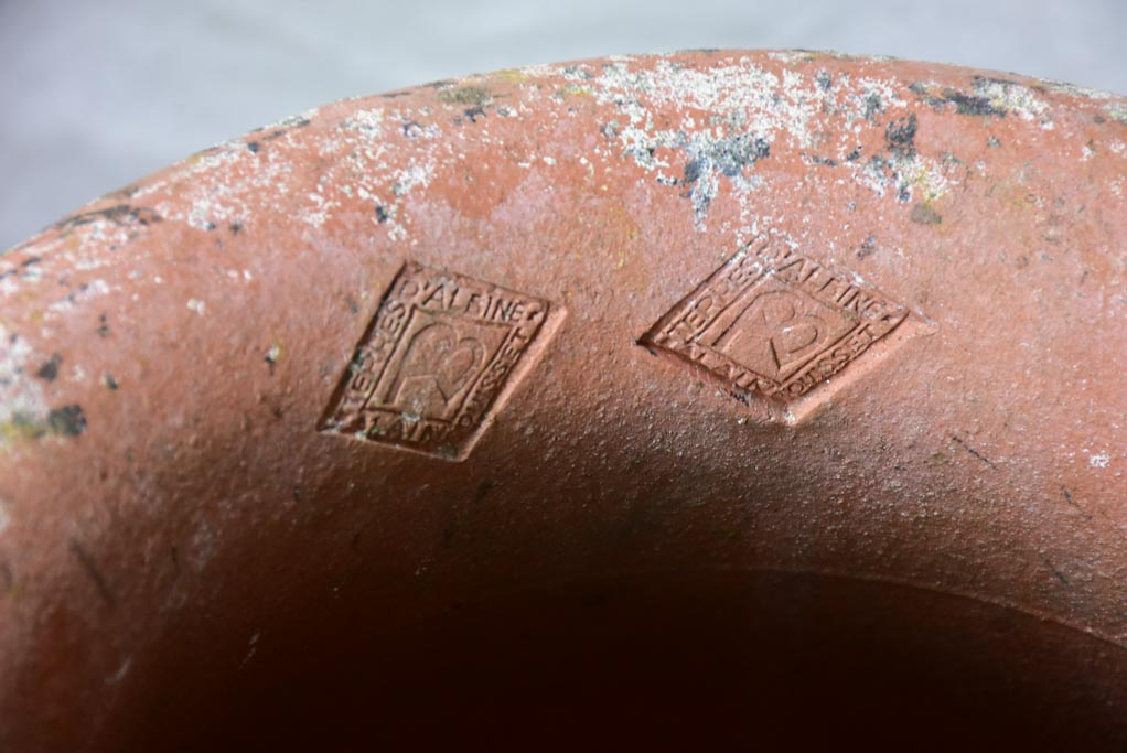 Pair of vintage terracotta pots from Albi 20""