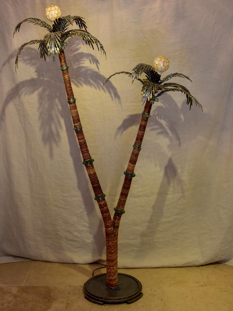 Date palm floor lamp