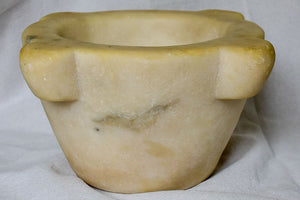 1940's French marble mortar 9¾""