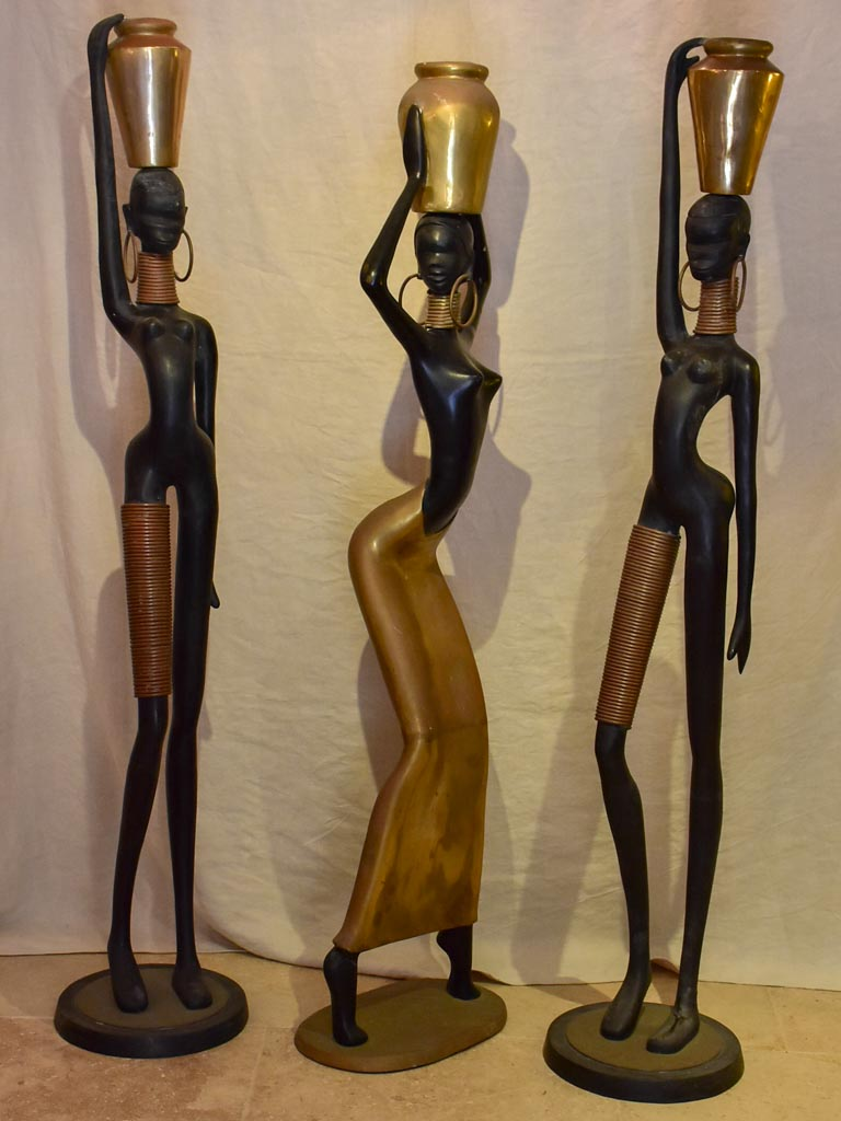 Three Karl Hagenauer style female sculptures
