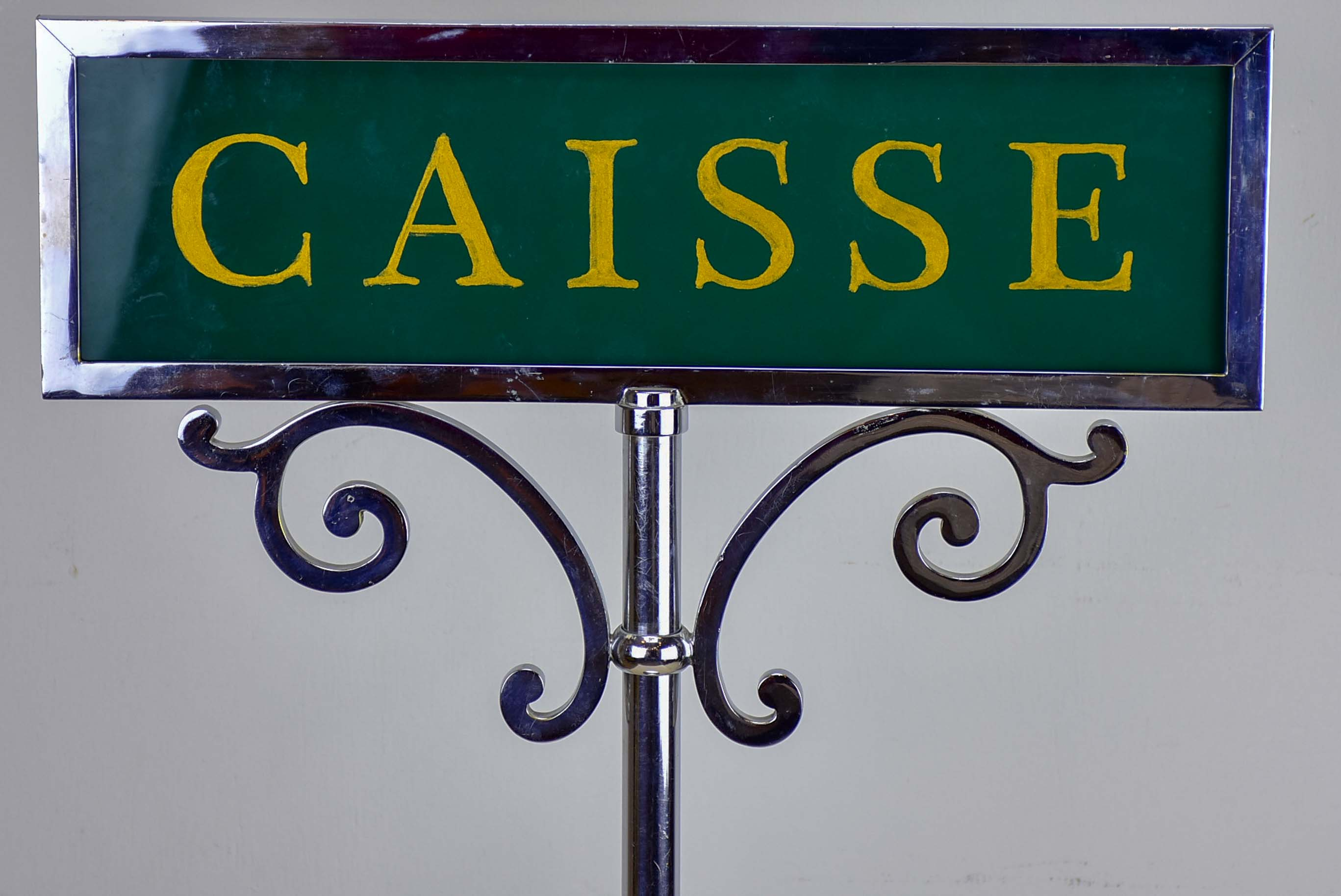 'Caisse' cash register sign