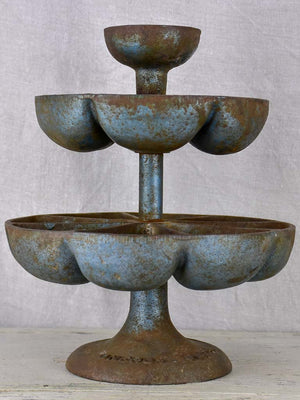 Antique French cast iron three tier presentation stand