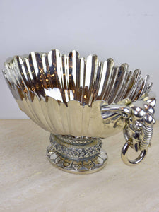Antique French champagne bucket with elephant handles