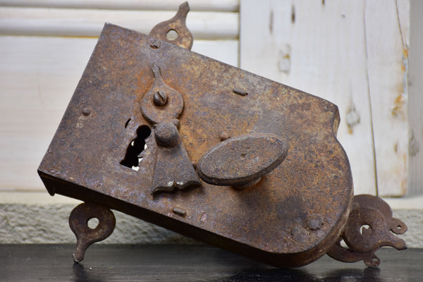 17th century French door lock from a chateau