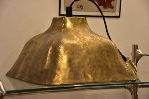 Large Italian square vintage pendant light