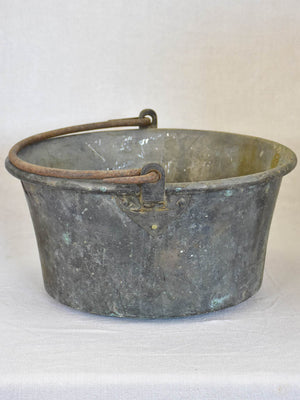 Broad 19th century French winemaker's bucket