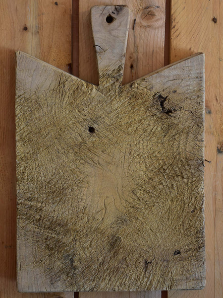 Antique French cutting board with pointed corners
