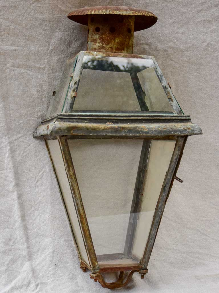 Large early 19th Century French lantern - tole 24""