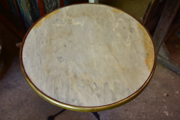 Antique French marble-top bistro table